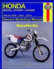 Honda XR250L, XR250R and XR400R (86 - 03) Haynes Manual
